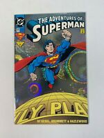 Adventures of Superman #505 DC 1993 Rainbow Foil Cover 1st Loophole