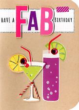 Hanno un FAB Compleanno Biglietto D'auguri Impreziosito rifinita a mano schede zolletta di zucchero
