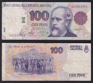 Argentina 100 pesos 1992 Pick 345a BB/VF  C-07