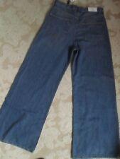 Neu von ZARA angesagte Jeans Hose weites Bein Marlene Gr 38 Premium Denim Blau