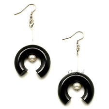 Earrings - Q12191 Horn & Pearl