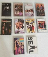 Lot of 10 VTG 80's 90's Cassette Tapes Pop Hip-Hop Rap