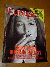 EUROPEO 1990/33=ORIANA FALLACI=GIOVANNI MICHELUCCI=GIOVANNA SPELTA=JULIA ROBERTS