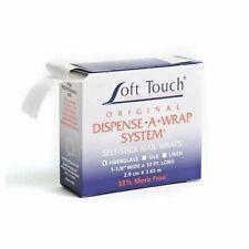 """Soft touch Dispense A Wrap FIBERGLASS self stick nail wraps 1-1/8"""" x 12ft"""