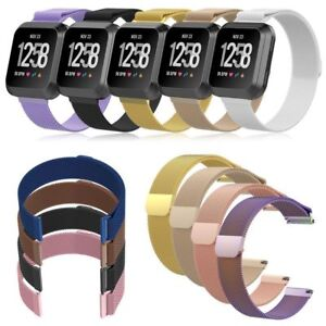 Metal Fitbit Versa Replacement Milanese Band Strap Secure Wristband