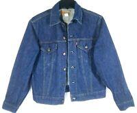 Vintage LEVI STRAUSS Jean Jacket Denim Trucker Blue Men's Size 40 Made in USA