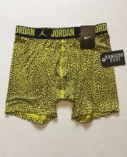 Nike Air Jordan All Season Yellow Black Base Layer Shorts Mens Size L