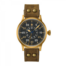 Laco 862088 Pilot Watch Original Dortmund Bronze 45mm Hand WInding Watch