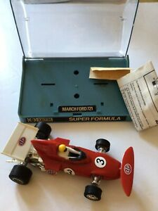 Vintage Scalextric Super Formula March Ford 721 Racing Car boxed working