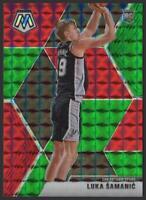 2019-20 Panini Mosaic GREEN and RED 235 Luka Samanic RC Rookie San Antonio Spurs