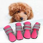 4PCS Mesh Pet Dog Boots Breathable Puppy Shoes Anti-slip Protective Summer Sock