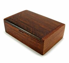 Wooden Box Handmade Trinket Storage Keepsake Jewelry Name Card Holder Gift