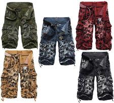 3D дизайн мужской Cool винтажные свободные шорты грузовой военный камуфляж повседневные штаны