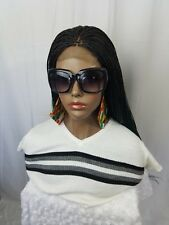 """Women Hand Made Micro Millio Braided Wigs With Closure  30-34"""" Ombre Black-Green"""