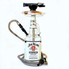 Jim Beam® Hookah Shisha Narghile Chicha 1.75L Glass Bottle Hand Made White Smoke