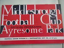 Middlesbrough V  Southampton 1963/4