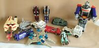 Transformers G1 + Go Bots Bundle Mostly Spares Optimus Slugslinger Skywarp etc