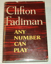 1957 NEW YORKER MAG. Review Copy of ANY NUMBER CAN PLAY by CLIFTON FADIMAN