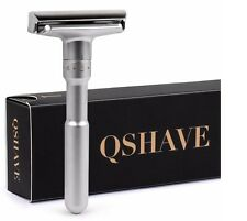 QShave Adjustable Safety Razor, Shaving Mild to Aggressive 1-6 Settings