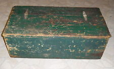 "Old Country Farm Green Painted Wood Chest - 32""x16""x11.5"""