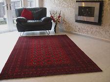 NEW RED AFGHAN RUG 100% WOOL 229 x 158cm PERFECT ORIGINAL ORIENTAL RUG