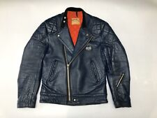 Lewis Leathers Genuine Leather Vintage Rare Blue Super Monza Jacket Aviakit M 38