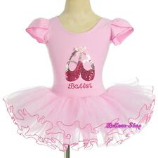 Pink Sequined Ballet Tutu Dance Costume Fairy Fancy Dress Leotard Size 3-4 BA060