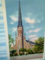 VINTAGE POST CARD FIRST PRESBYTERIAN CHURCH COLUMBIA S.C.