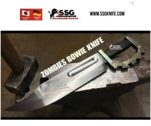Custom Rare Art Zombie Bowie Forged Full Tang Hunting Survival Knife  23 Inch