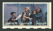 Unused US Postage Stamps Strip 13 Cent Stamps Spirit of 76