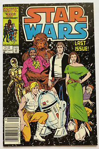 STAR WARS #107 Newsstand Variant 1986 NM- Marvel Comics! Luke Skywalker Han Solo