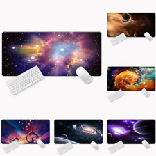Galaxy Space Gaming Mouse Pad Large Size Desk Keyboard Mat Soft Thick 31x 11.5''