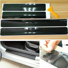 4x Carbon Fiber Car Door Plate Sill Scuff Cover Anti Scratch Sticker Accessories