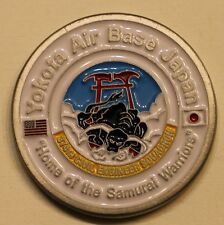 "Yokota Air Base Japan ""Home of the Samurai Warrior"" Air Force Challenge Coin"