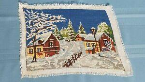 "Tapestry/gobelin ""winter idyll"" Needlepoint, Handmade Finish-13.0'' x 9.0''"