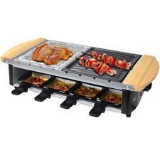 In acciaio inox raclette Uri per 8 persone con piastra grill e pietra calda 1200w