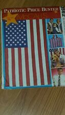 MCCALL'S 3562 PATRIOTIC UNISEX ADULT & KIDS VEST TOTE BAG TIE SCARF FLAG