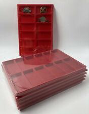 LOT 10 BOX PLATEAUX EN FEUTRINE AVEC COUVERCLES POUR MEDAILLES - DECORATIONS!