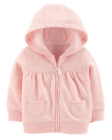 NEW Baby Sweater Front pockets Girls' Fleece Zip-Up Hoodie jacket Zip-front Warm
