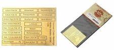 Matho Modelle 1/35 Deutsche Kasten Markierungen Airbrush Schablone, Photo-Etch (
