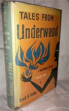 1952 TALES FROM UNDERWOOD DAVID KELLER ARKHAM HOUSE MACABRE TERROR FIRST EDITION