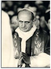 """Vatican, Pape Paul VI au pèlerinage de la """"Via Crucis"""" Vintage silver print Ti"""