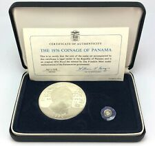 New listing Franklin Mint 1976 Coinage of Panama Silver Coin Proof Set w/ Coa & Case