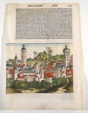 Schedel Weltchronik 1493 Blatt 92 Augsburg Alexandria Bücherverbrennung Original