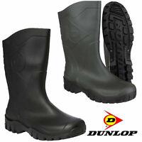 Mens Ladies Dunlop High Calf Wellingtons Wellies Ankle Rain Mucker Boots Shoes