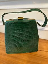 New listing Vintage 1960's Bmg Purse, Green Lizard, Excellent Condition