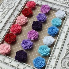 6x Felt Rose Flowers. Red White Blue Pink Purple. Floral, Card, Craft, Scrapbook