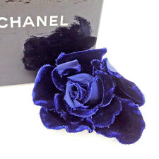 Chanel corsage brooch Navy Woman Authentic Used T2498