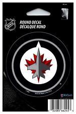 "(HCW) Winnipeg Jets 3"" Round Vinyl Decal Sticker NHL Licensed *FREE SHIP"
