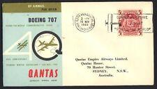 Australia 1960 Round The World Special Flight On Qantas 5 sh. Franking & Special